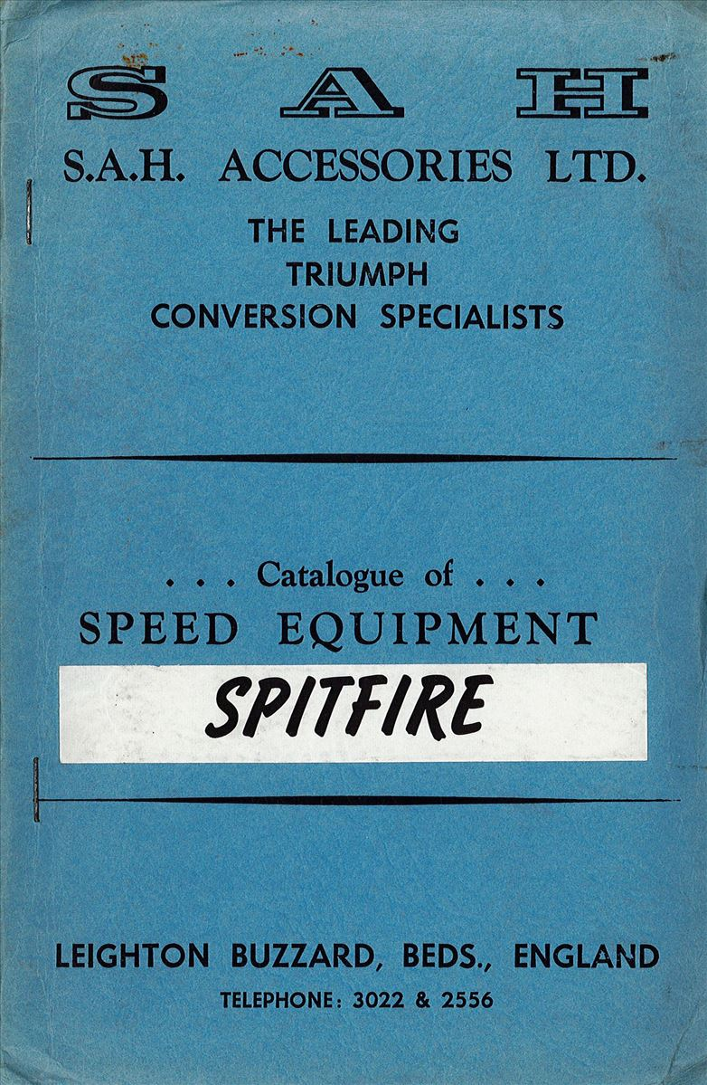 SAH Catalogue of Spitfire Speed Equipment