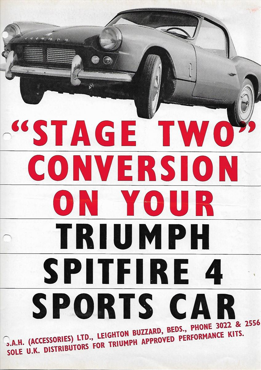 """Stage two"" conversion on your Triumph Spitfire 4 sports car"