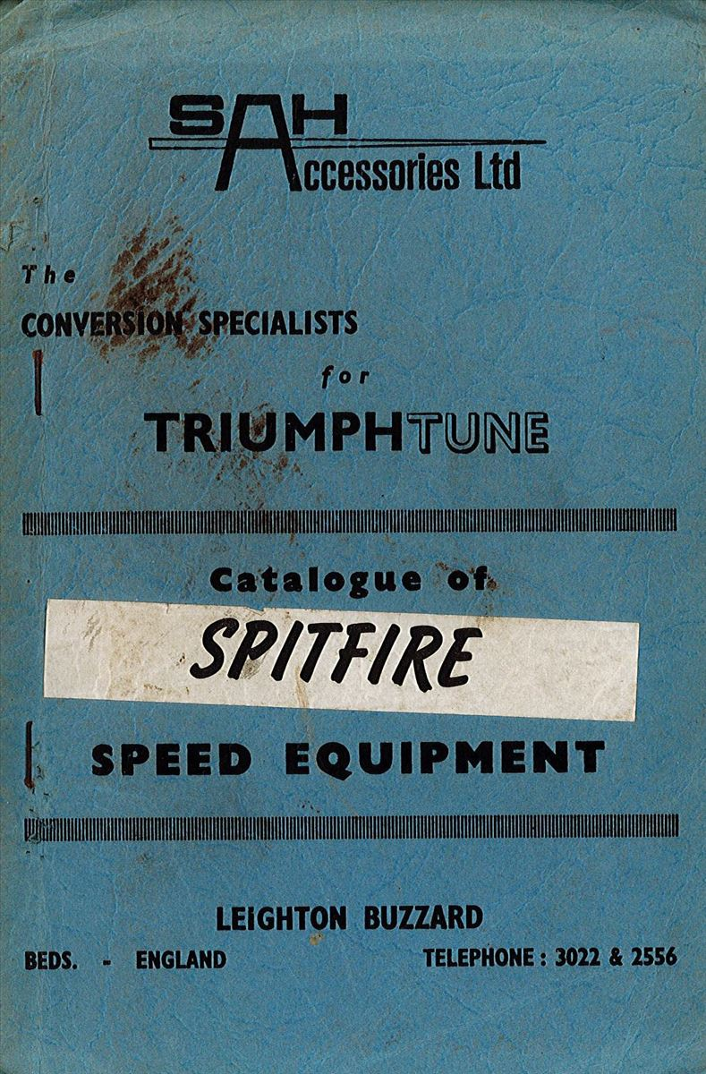 TriumphTune Catalogue of Spitfire Speed Equipment