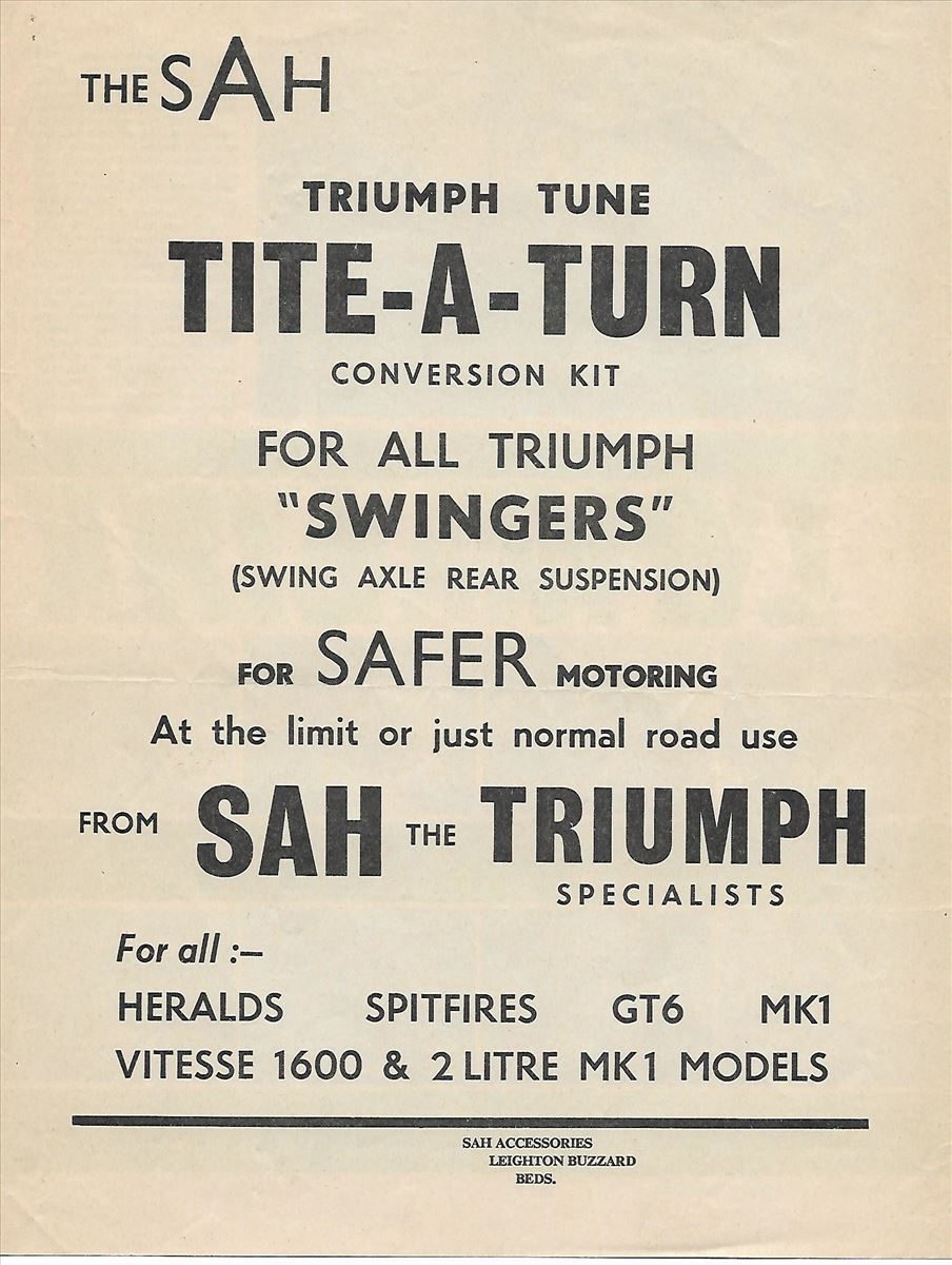 "Tite-a-turn conversion kit for all Triumph ""swingers"""